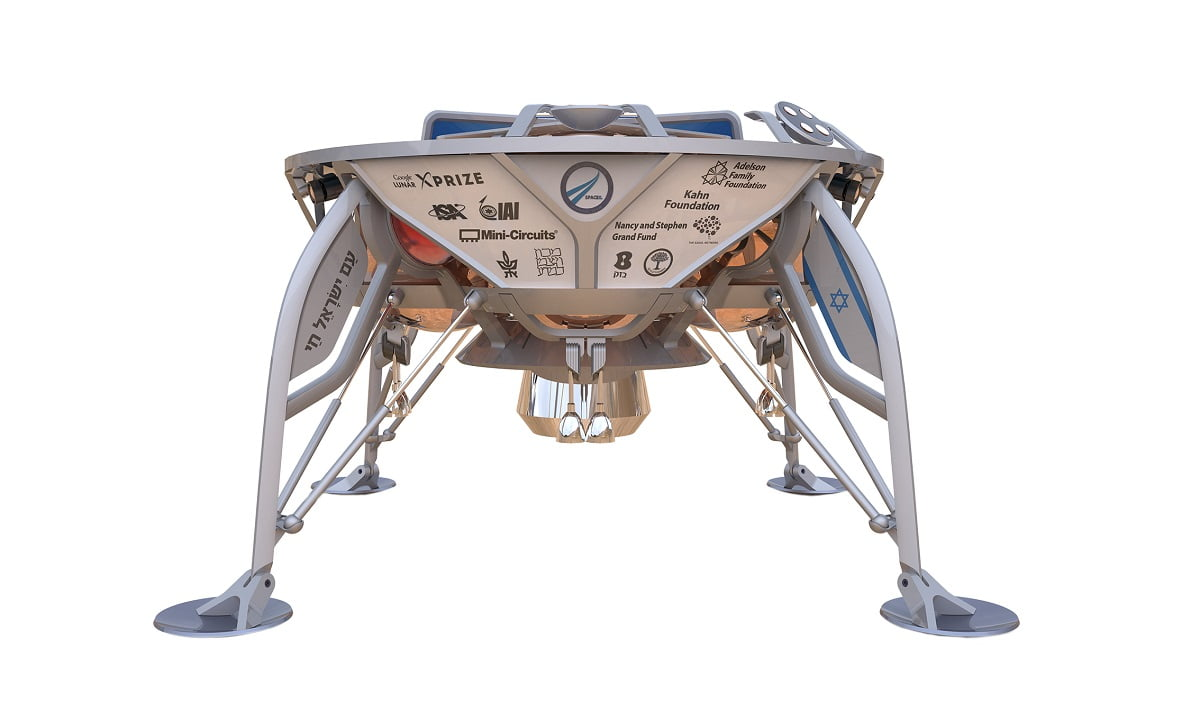 SpaceIL's spacecraft the Sparrow.  Courtesy of SpaceIL