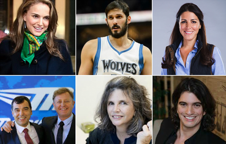 The Top 10 Most Influential Israelis Collage. Photo from Flickr, YouTube and Courtesy