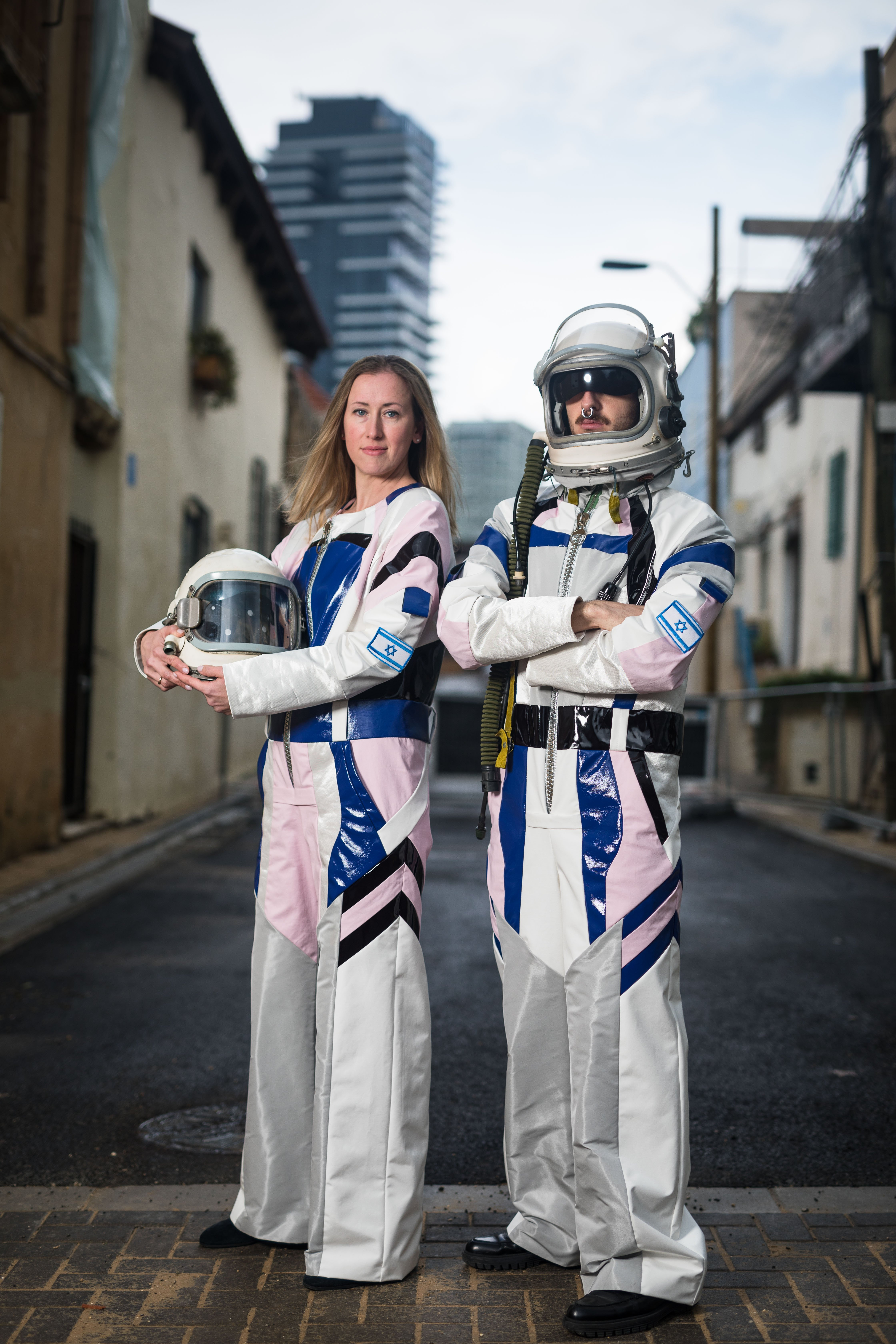 Popular designer Alon Livne worked with the Israel Space Agency to design the space suits for astronauts. Courtesy
