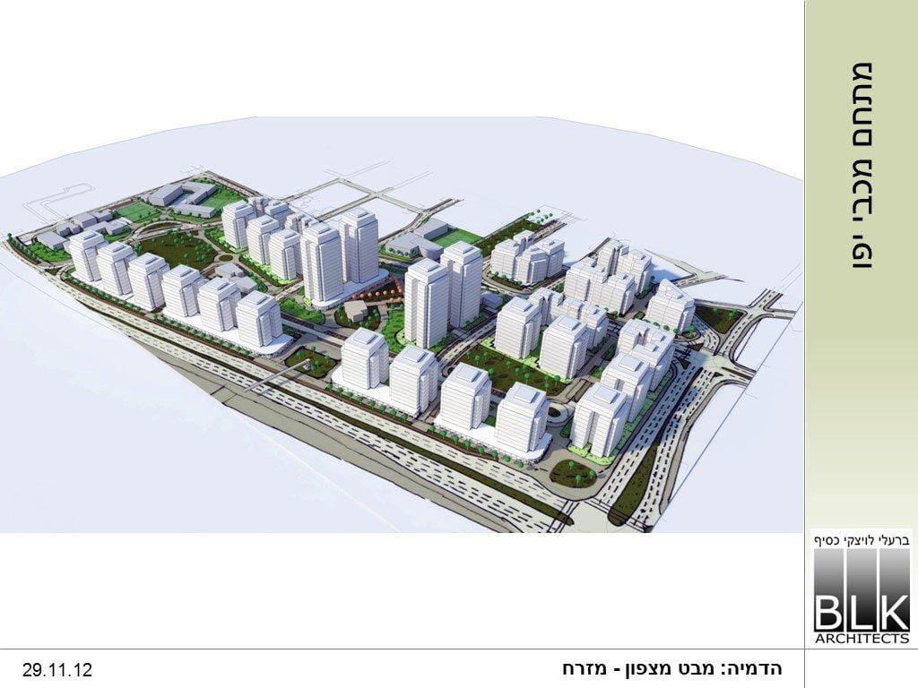 Tel Aviv-Jaffa plan for a new neighborhood in Jaffa near Bloomfield Stadium. Courtesy