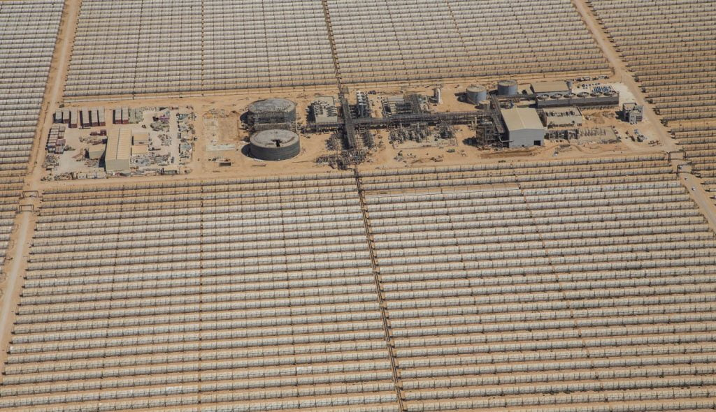 An aerial view of the Negev Energy project. Courtesy of Negev Energy