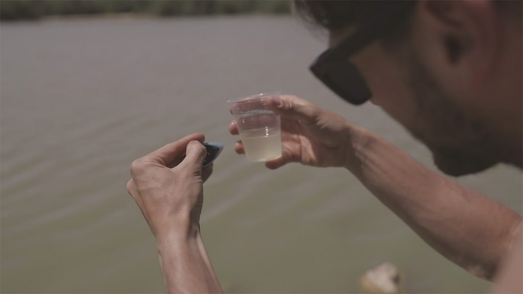 Lishtot's TestDrop device tests for water contamination. Courtesy