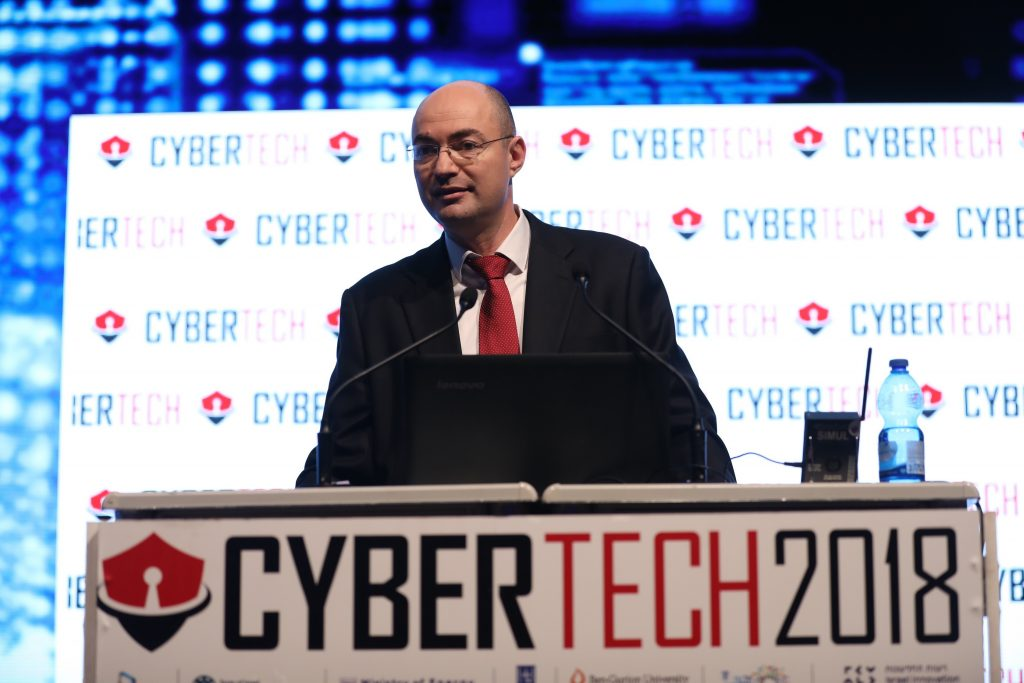 Yigal Unna, director-general of the Israel National Cyber Directorate at CyberTech 2018 in Tel Aviv. Photo by Gilad Cavalerchic