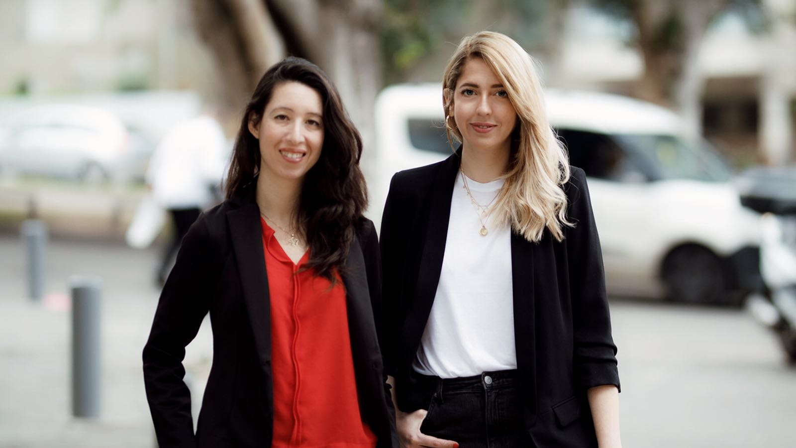 Yael Kochman (left) and Alla Foht (right) are the founders of Re: Tech, an innovation center in Tel Aviv for retail technology. Courtesy