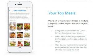 A screenshot of the DayTwo app