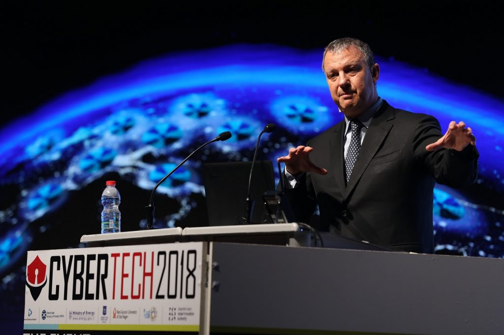 JVP founder and chairman Erel Margalit at CyberTech 2018, January 31. Photo by Gilad Cavalerchic