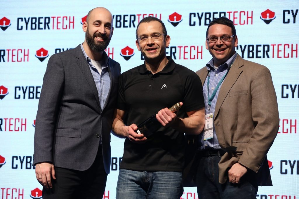 Protego Labs wins the startup contest at CyberTech Tel Aviv 2018, January 31. Photo by Gilad Cavalerchic