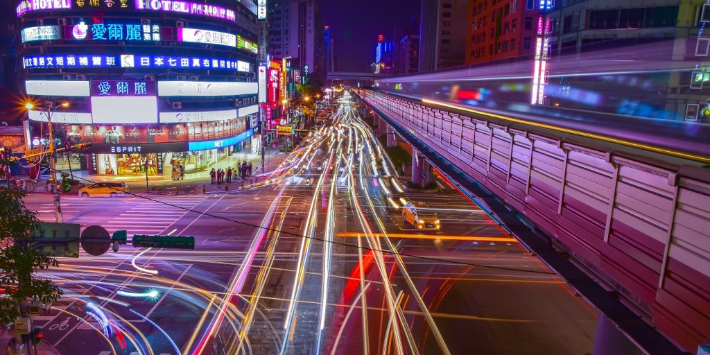 Light trails on a city street. Pexels