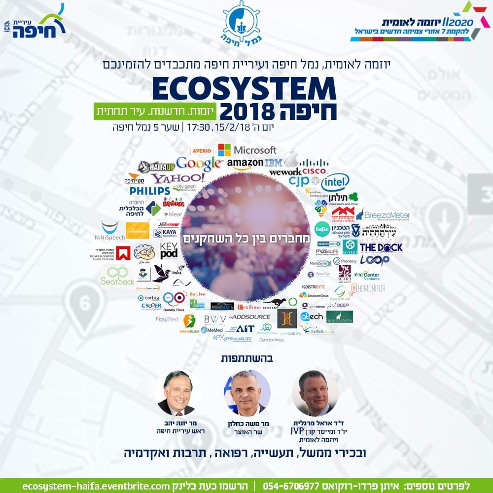 Ecosystem Haifa 2018 Focuses On City As Center Of Digital Health Innovation