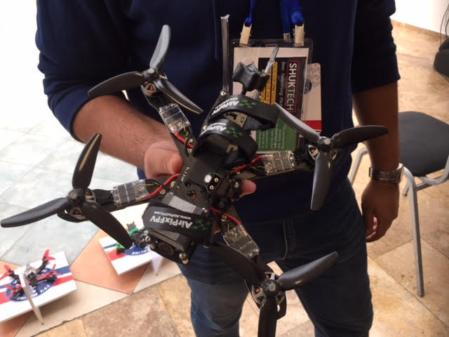 A drone is showcased at the 2018 OurCrowd Summit. Credit: James Marlow