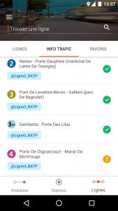 Screenshot of the Moovit app in France. Courtesy Moovit