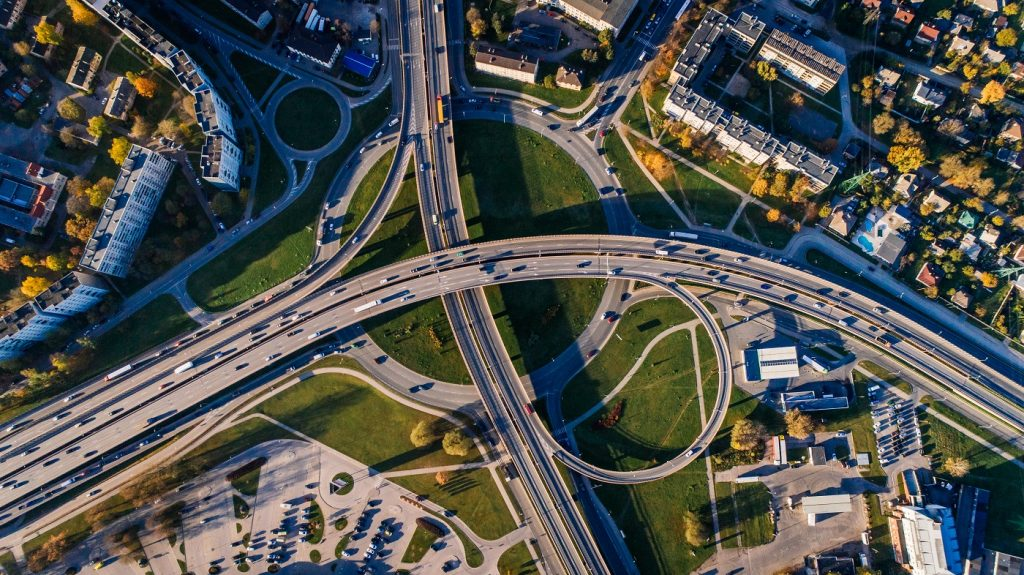Roads and bridges. Pexels