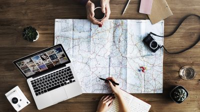 Planning a trip. Photo via Pexels