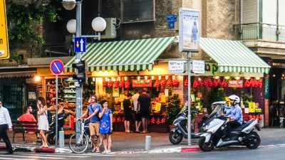 Tel Aviv fruitstand. Photo by Ted Eytan via Flickr