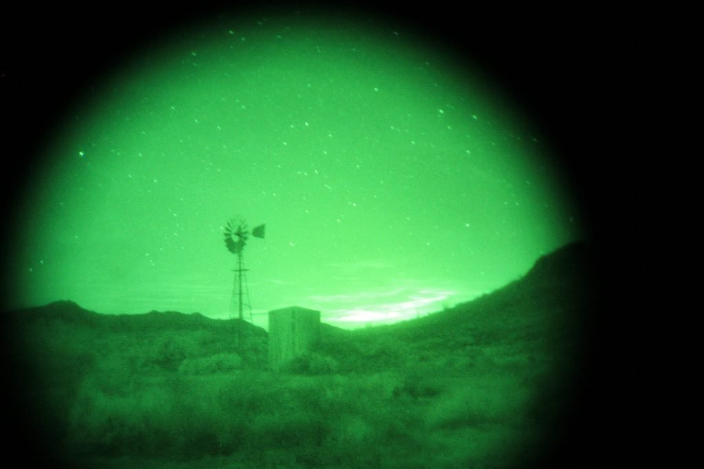 An illustrative photo of an image taken with night vision assistance. Photo by Andrew Loescher/ US Fish & Wildlife Service Southwest Region vis Flickr