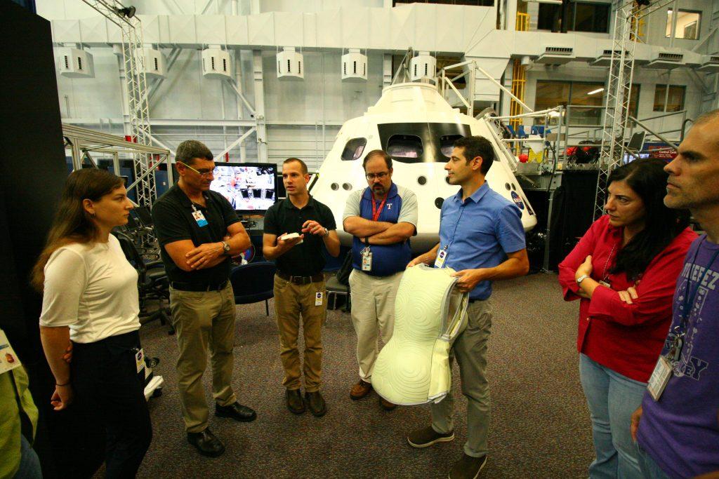 The StemRad team showing the AtroRad suit. Courtesy