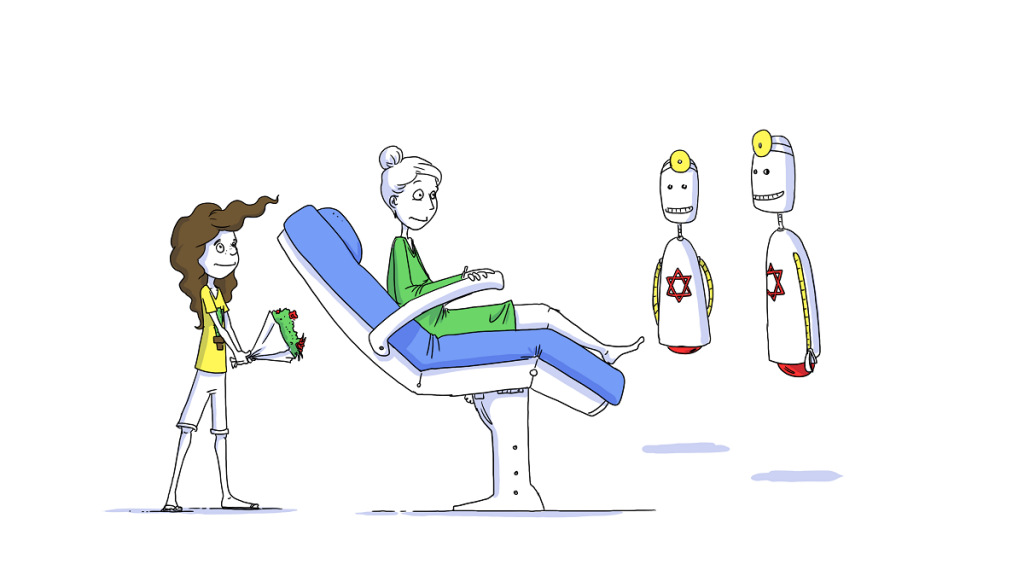 A frame from the Israel 70+ initiative video on the future of medicine. Courtesy