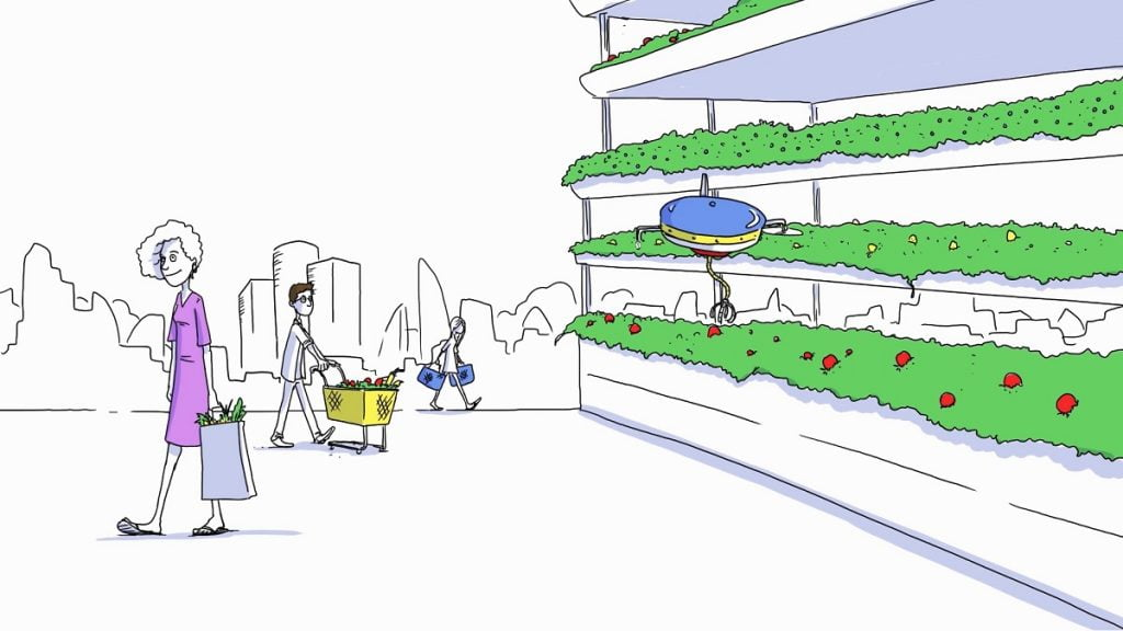 A screenshot from the Israel70+ initiative video on the future of food and agriculture. Courtesy