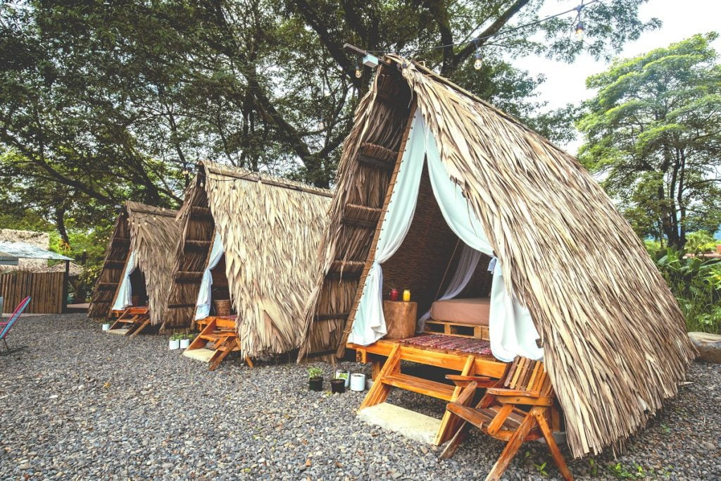 Glamping, a portmanteau of glamour and camping, in La Fortuna, Costa Rica. Courtesy