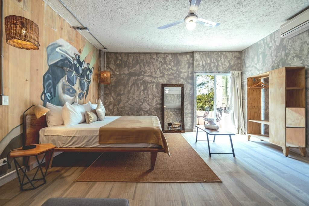 A room at a Selina destination in Cancun. Courtesy
