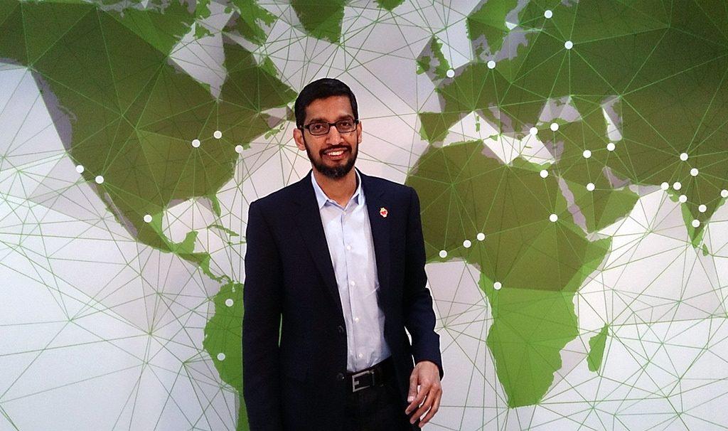 Google CEO Sundar Pichai. Photo by Maurizio Pesce via Flickr, CC BY 2.0