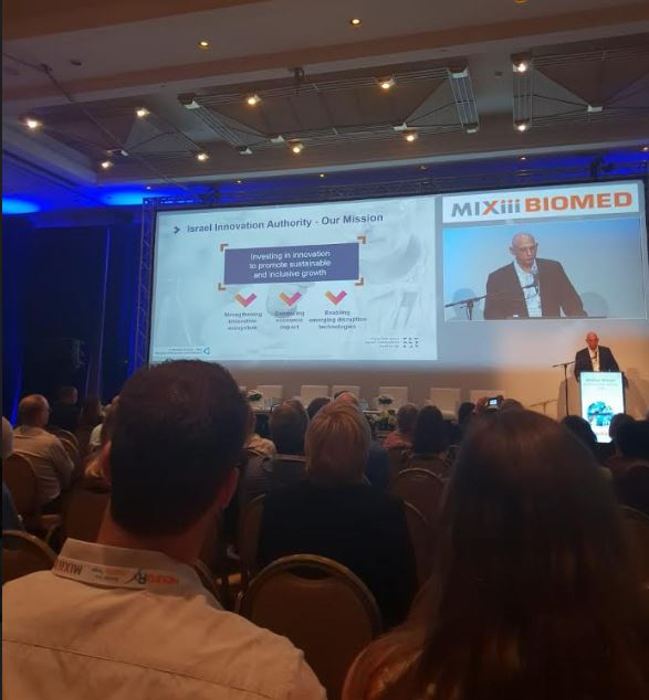 Aharon Aharon, CEO of the Israel Innovation Authority shares information on the Israeli life sciences industry. Courtesy