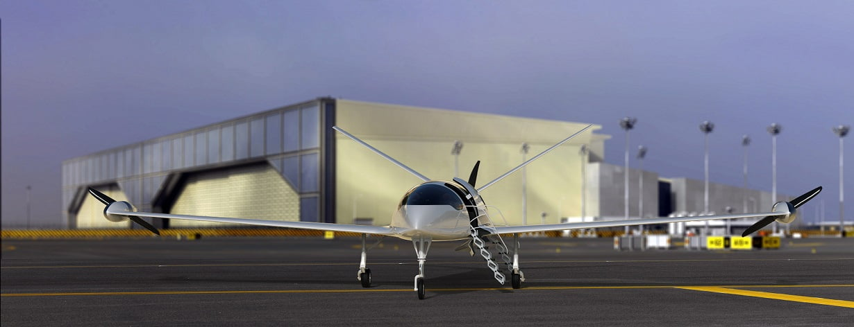 Unlike the Uber flying taxi concept, Eviation's Alice aircraft will not be a vertical take-off and landing vehicle. Courtesy