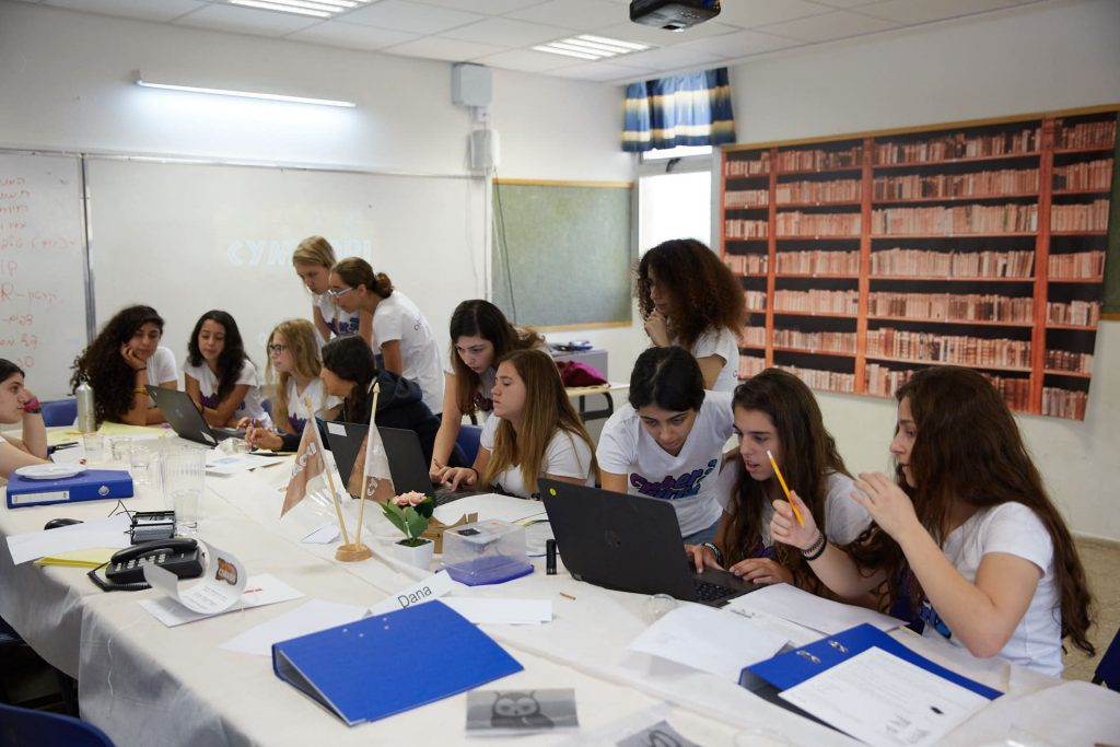 A cyber camp for girls run in partnership with Lockheed Martin. Courtesy