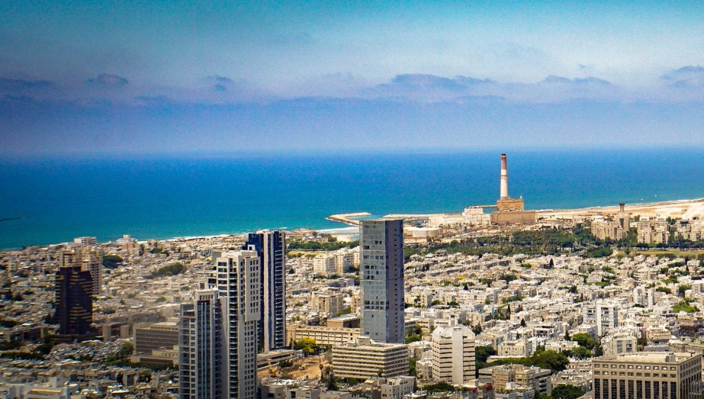 A view of Tel Aviv from atop the Azrieli Center Circular Tower. Photo by Ted Eytan via Flickr, CC BY-SA 2.0