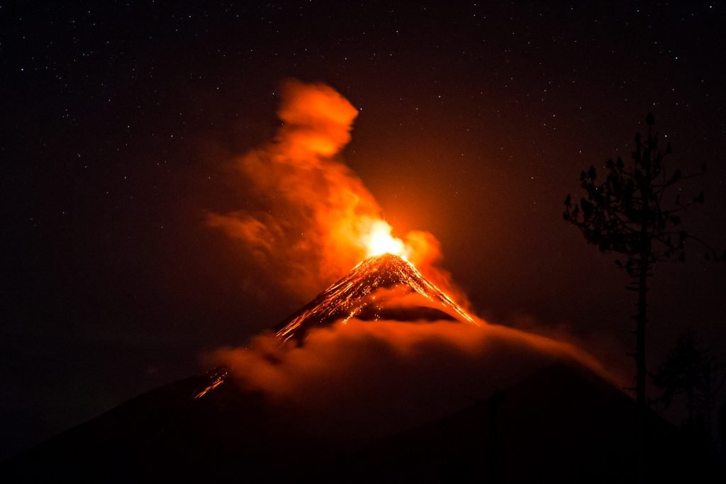 The Volcano de Fuego erupting in 2017. Photo by Arden via Flickr, CC BY-SA 2.0
