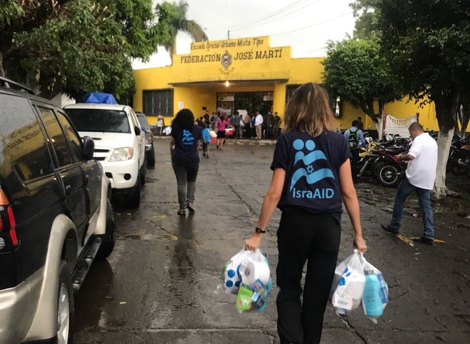 IsraAID team in Guatemala, June 5, 2018. Courtesy