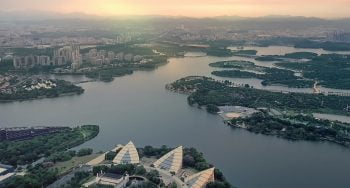 The Songshan Lake district in Dongguan, China. Courtesy
