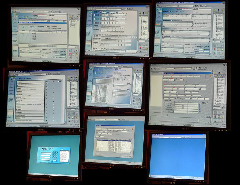 "An illustrative photo of Electronic Medical Records program. <a href=""https://www.flickr.com/photos/juhansonin/3857845956/in/photolist-apKYMA-FUqrh-EoGEN-atsW6f-5sZGsV-HDyZ4-5h5xuu-5TULVh-6SUtcs-atsVno-atsWaW-27zzzij-aptNNS-YesBje-FUqhE-rh2T7X-rgYzC1-atqgAt-atsVGN-YDt7Y7-atqgzc-atqgGg-6KZpn7-8z1aPW-YBTDY1-reGFyY-atqggk-Xp2RC7-atqfT8-rgTJP6-YiBaj1-qkeyJD-rgU9w6-rh19ue-qZzDvF-Gw3PWj-zMAiCe-ZUSbhv-qZtVM1-atsVWA-ri6YtA-qZtvWo-rh2G4p-rkMhBf-27zzuD9-YHXXic-zwG1XH-rocW1A-Pawt75-27zzsf1"" target=""_blank"" rel=""noopener"">Photo by Juhan Sonin</a> via Flickr, CC BY 2.0"