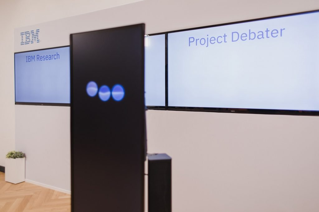 IBM's Project Debater. Photo by Or Kaplan