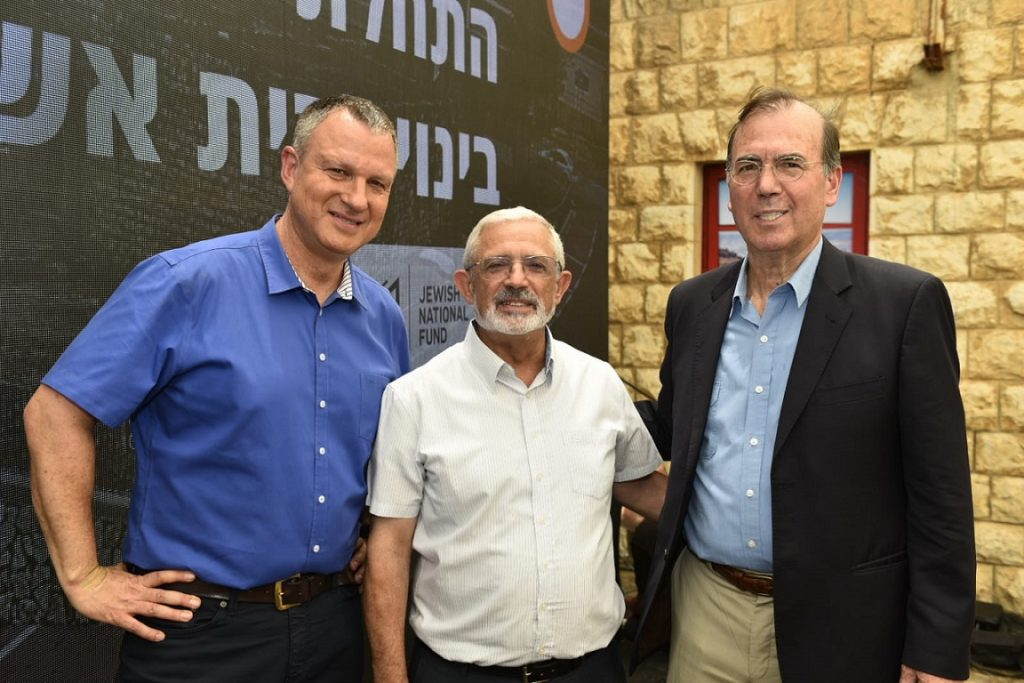 JVP Chairman Erel Margalit with the Mayor of Kiryat Shmona and the Director of the Israel Innovation Authority Ami Appelbaum. Courtesy