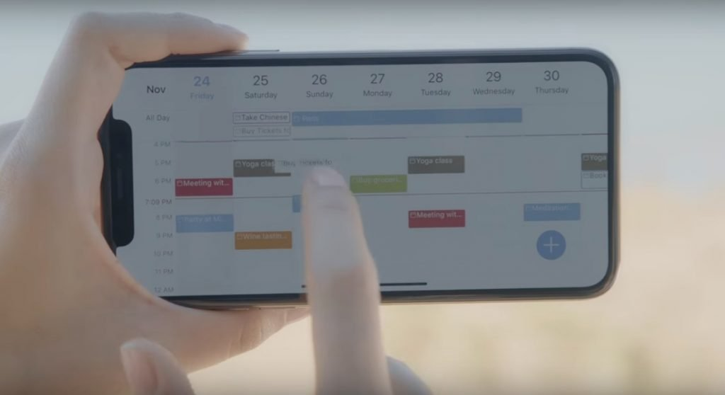 A screenshot from a 24me promo video showing the productivity app.