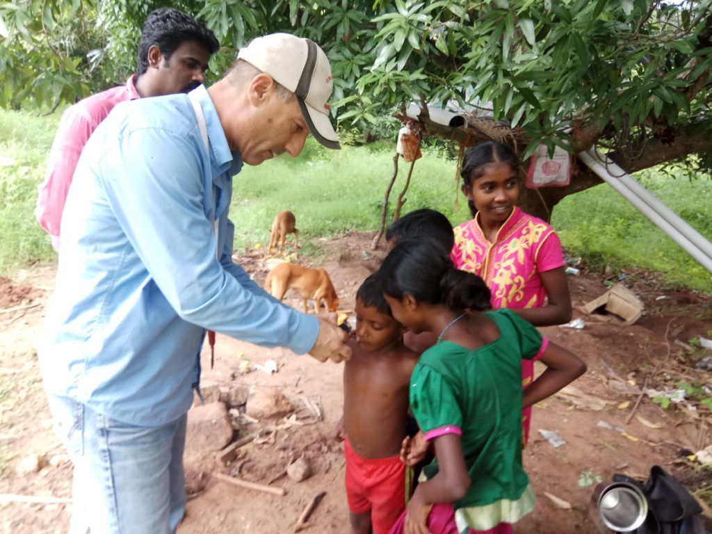 Dr. Nimrod Israely in India. Courtesy of Biofeed