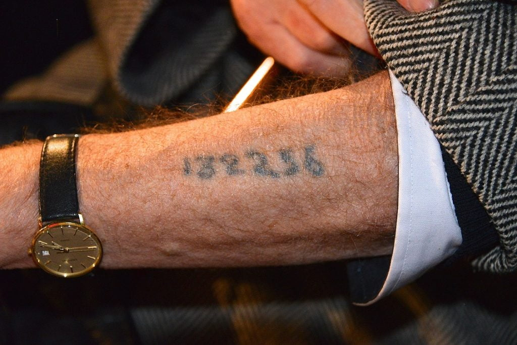 holocaust number tattoo