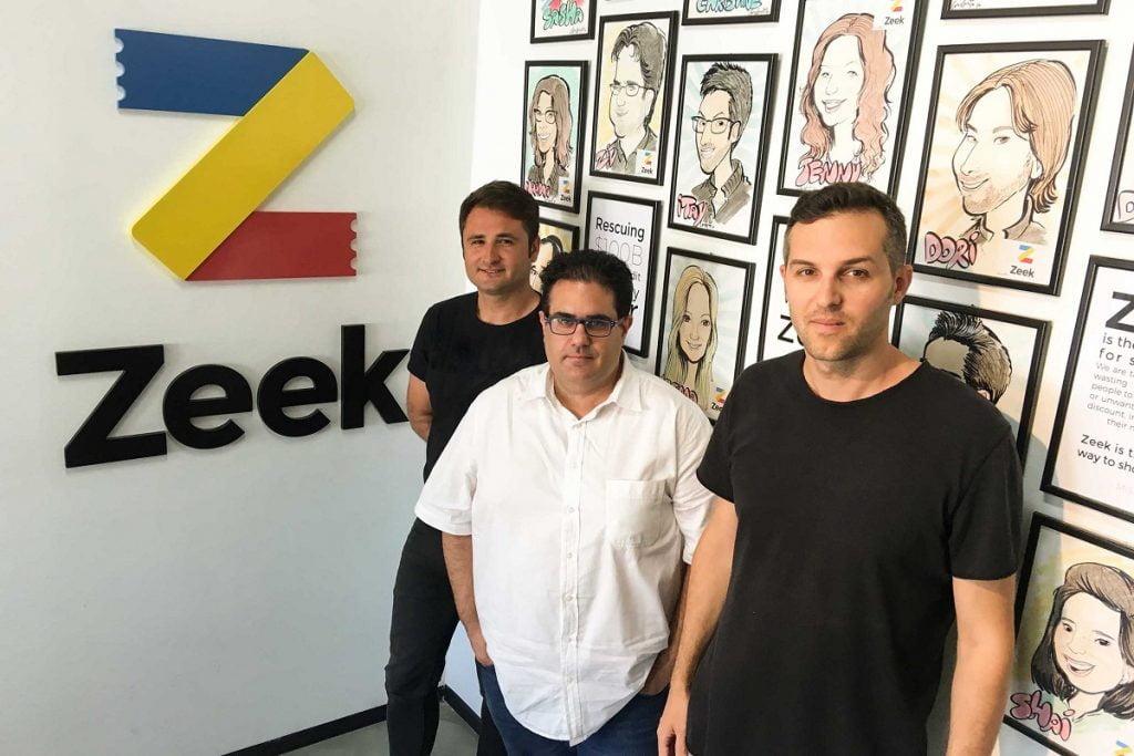 Zeek founders from left to right, Daniel Zelkind, Ziv Isaiah, Itay Erel. Courtesy of Zeek