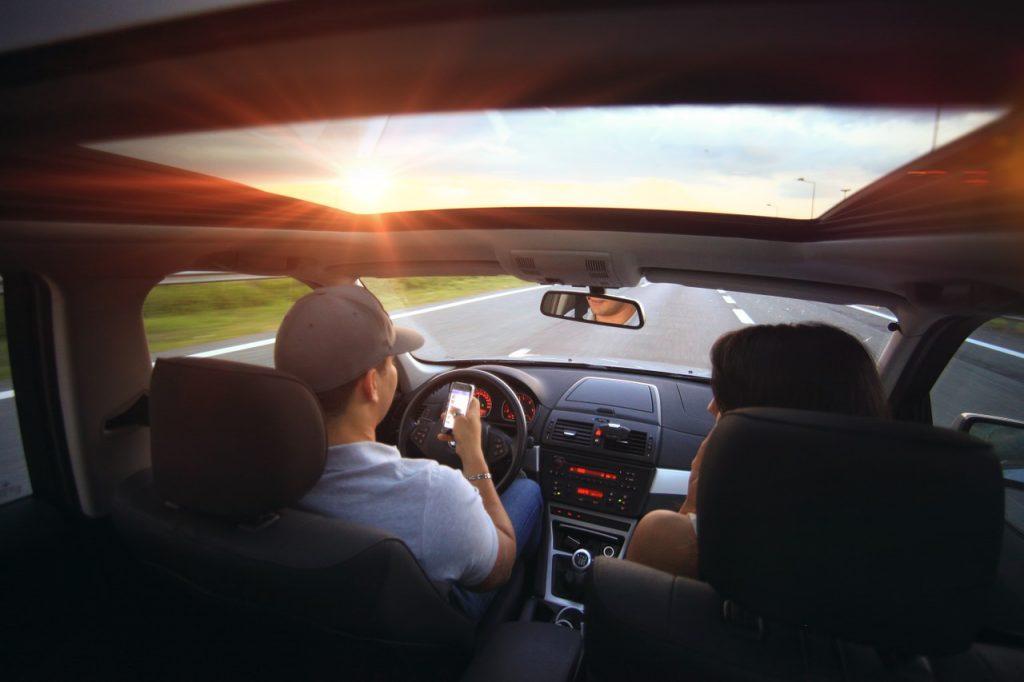Inside of a car. Photo via Pixabay.