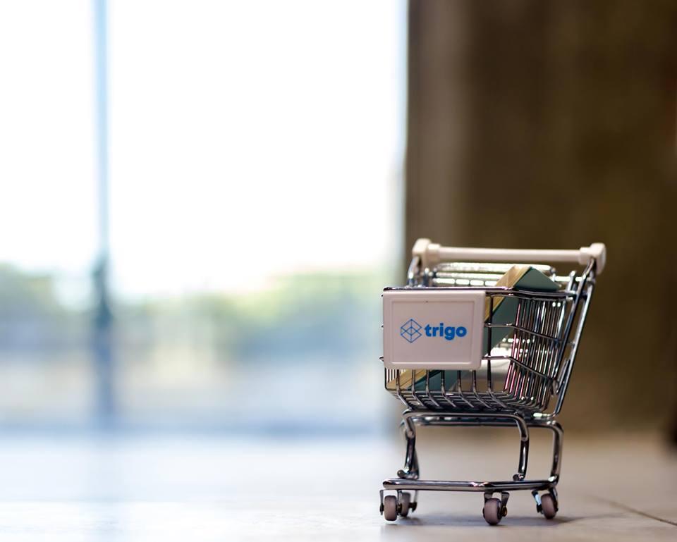 A shopping cart in the Trigo Vision office. Courtesy