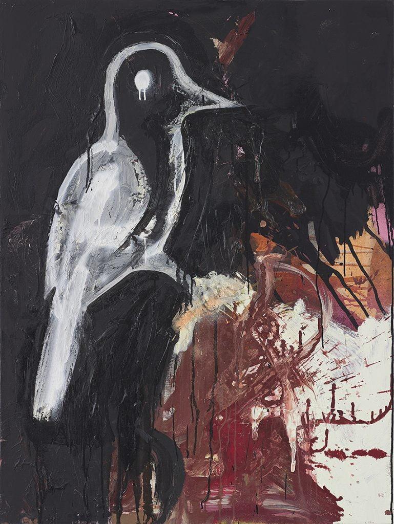 Tsibi Geva's Bird 2015, acrylic and oil on canvas. Courtesy