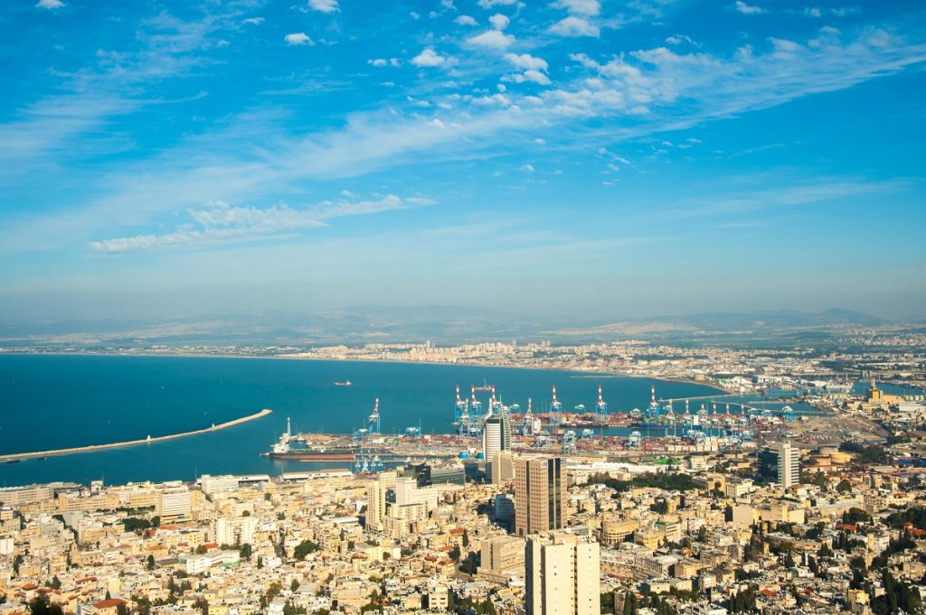 A view of the city of Haifa and its port. Deposit Photos