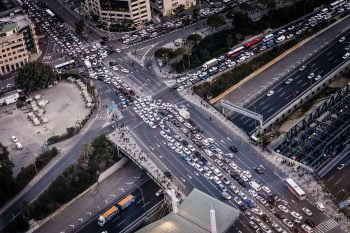 Tel Aviv traffic. Photo by Jens Herrndorff on Unsplash