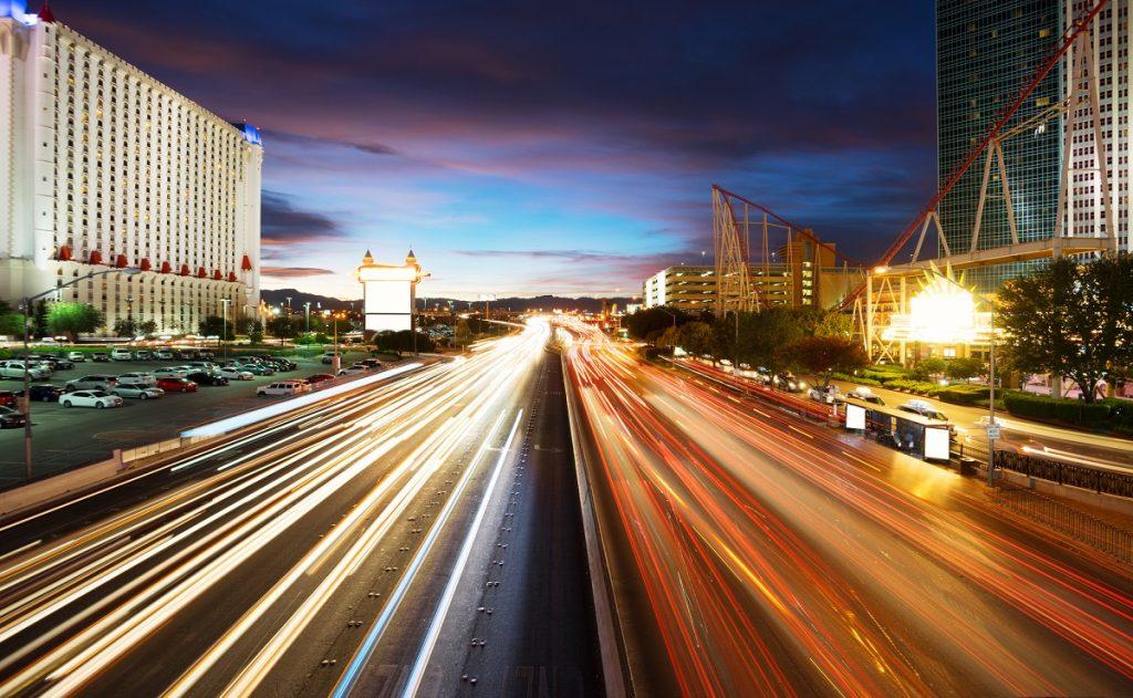 Traffic in Vegas. Deposit Photos
