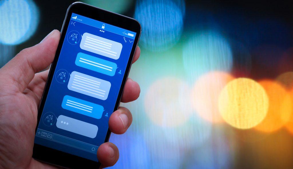 Chatbot conversation.Deposit Photos
