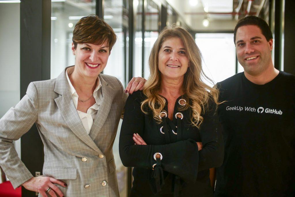 From left to right: Yael Rozencwajg, Shira Fayans Birenbaum, Adir Ron. Photo via Microsoft