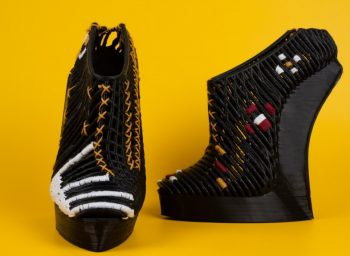 Ganit Goldstein's 3D printed shoes. Courtesy