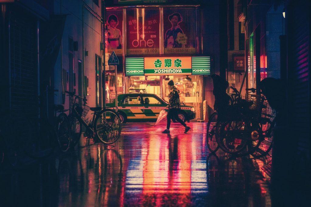 Osaka, Japan at night. Photo via Pixabay