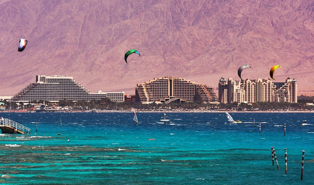 A view of the Israeli city of Eilat located on Red Sea. Deposit Photos